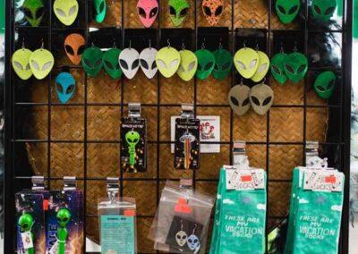 Alien Earrings and Socks