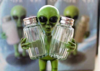 Alien Salt & Pepper Shaker Holder