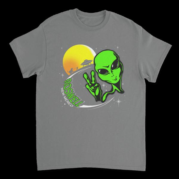 Peace Alien TShirt - Graphite Heather