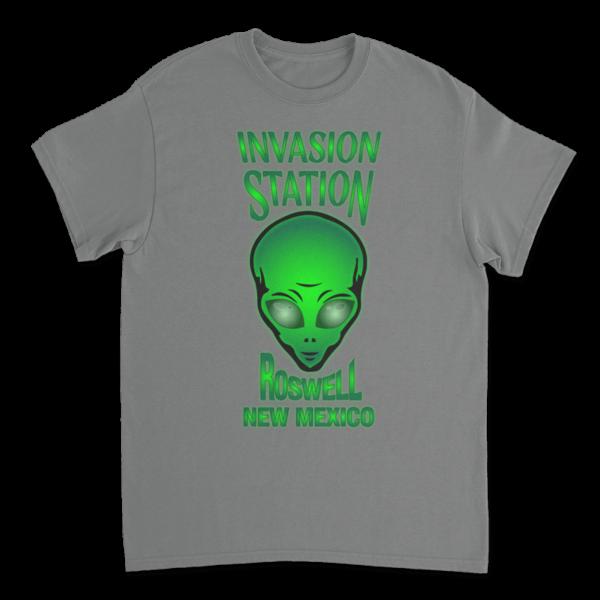 Invasion Station TShirt - Graphite Heather