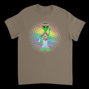 Alien Hippie TShirt - Brown Savana