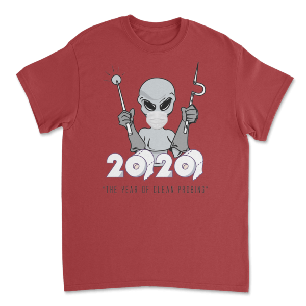 Clean Probe 2020 TShirt - Antique Red